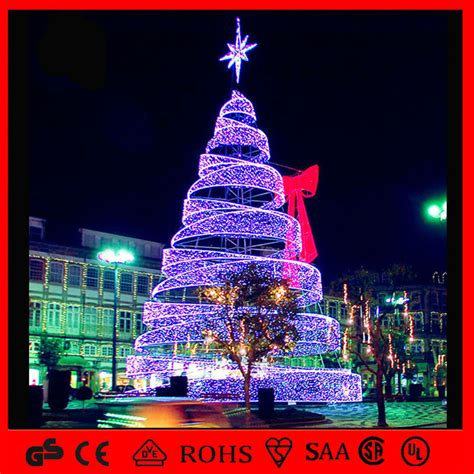 china led outdoor decoration light spiral christmas tree