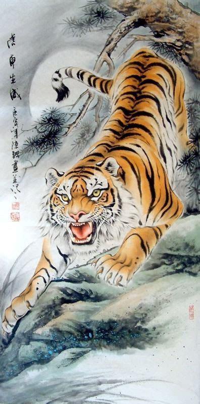 chinese paintings  tigers chinese paintings tiger