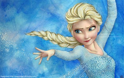 elsa painting elsa by poppysleaf on deviantart
