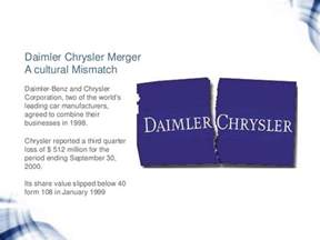 Daimler Chrysler Merger Failure Mergers And Acquisitions