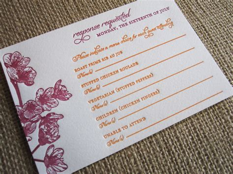 Wedding Invitation Number Of Guests Attending by Rsvp Card Insight Etiquette Every Last Detail