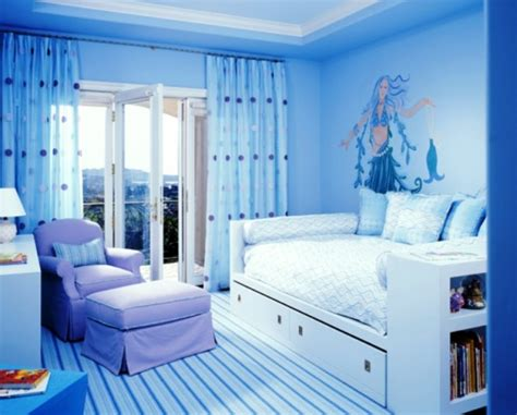 attractive Cute Room Decor For Teenage Girls #5: Blue-Teenage-Girls-Bedroom-Painting-Ideas.jpg