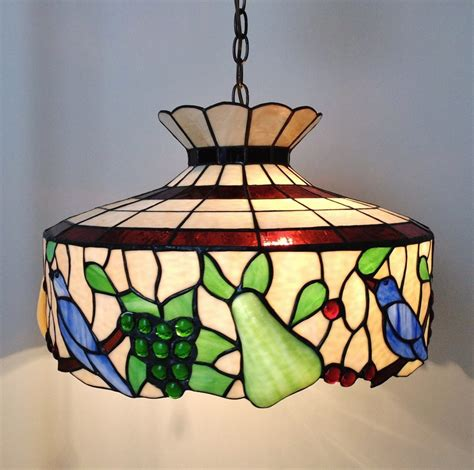 Stained Glass Chandeliers Vintage Stained Glass Chandelier Roselawnlutheran