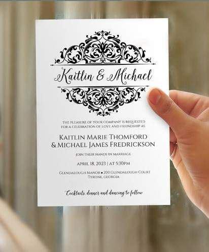 wedding invitation template landscape beautiful best 25