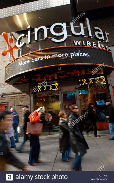 New Cingular Wireless Lookup A Cingular Wireless Store In Times Square Stock Photo Royalty Free Image 6715735 Alamy
