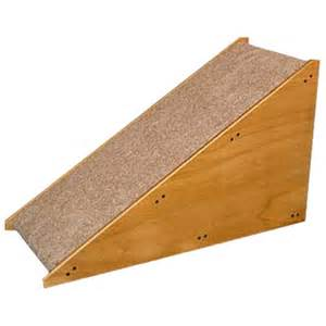 Ramp 17 in rise free standing carpeted wood indoor dog ramps discount