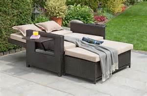 3 in 1 sofa greemotion 3 in 1 bett bahia gartensofa multifunktions sofa