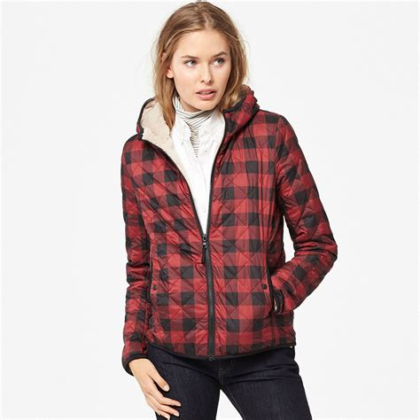 Uniqlo Quilted Jacket by Uniqlo Faux Shearling Quilted Parka Printed In