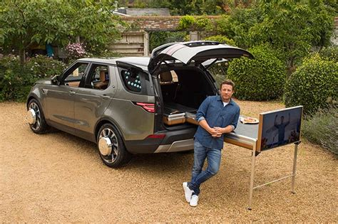 Herb Spice Rack Jamie Oliver Transforms Land Rover Into A Mobile Kitchen
