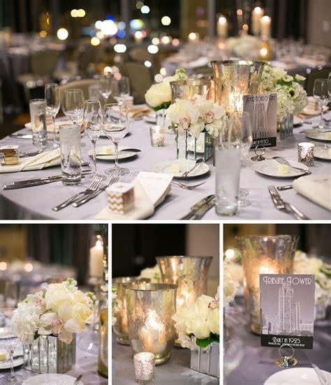 mercury glass candle centerpieces wedding tablescape