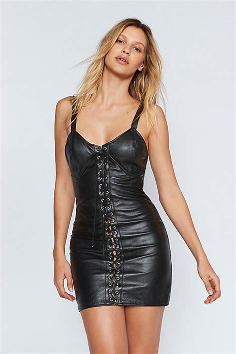 Mini Leather Dress city slicker leather mini dress free