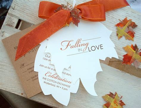 fall wedding invitations and save the dates how to arrange an fall themed wedding function