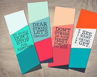 printable bookmarks with inspirational quotes quote bookmark etsy