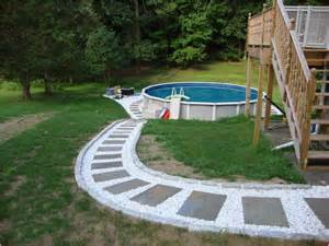 Above ground swimming pool landscaping pictures home design ideas