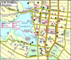 Victoria Canada Map by Map Of Victoria Downtown Vancouver Island British