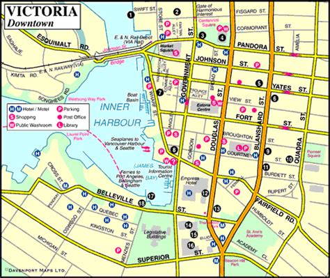 printable maps victoria bc map of victoria downtown vancouver island vancouver