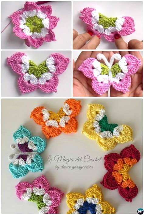 pin crochet butterfly pattern on pinterest la magia crochet butterfly free pattern crochet and