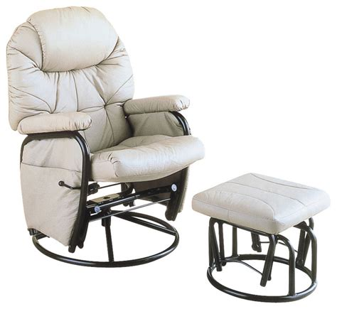 stella rocker recliner and ottoman monarch specialties i 7292 taupe metal swivel rocker