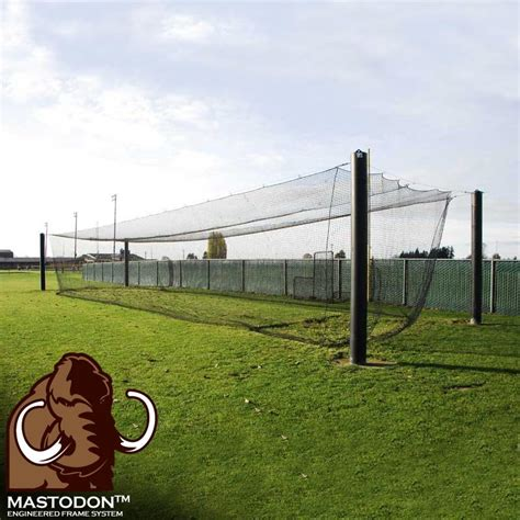 Backyard Scoreboards Mastodon Engineered Batting Cage System Batting Cages
