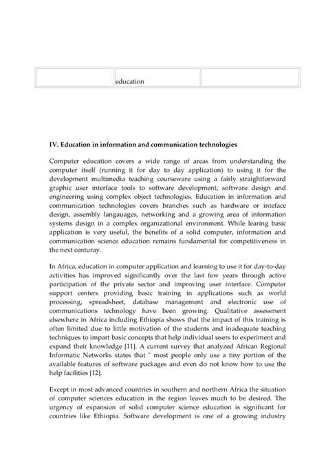 thesis about ict in education essay about ict in education