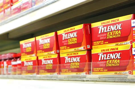 Acetaminophen Shelf by Tylenol 174 Lawsuit Liver Failure Defective Drugs Impact