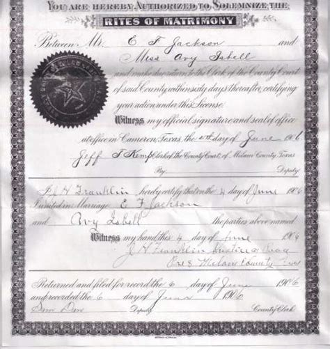 Cameron County Marriage Records Page 19 Photos Of Early Milam County