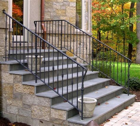 Exterior Banister stair railings wilson railing metal fabricating