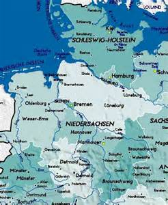 Map Of Northern Germany by Detailed Map Of North Germany