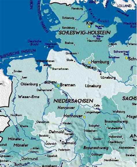 map northern germany detailed map of germany