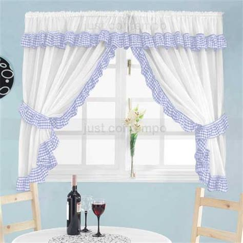 Kitchen Curtains Blue Modern Blue Kitchen Curtains Quicua