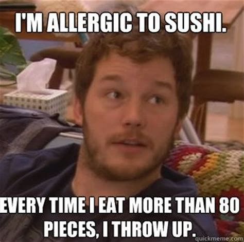 Sushi Meme - the best parks and recreation quotes of all time pizza