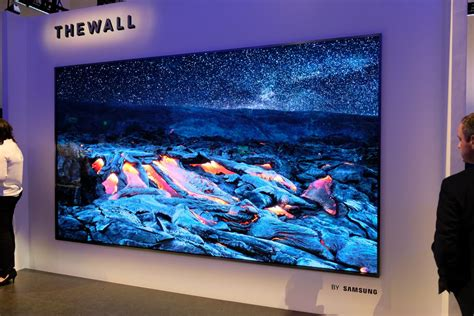 samsung s 146 inch the wall microled tv literally grow with you