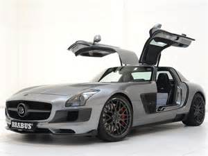 Mercedes With Gullwing Doors Brabus 700 Biturbo Based On The Mercedes Sls Amg