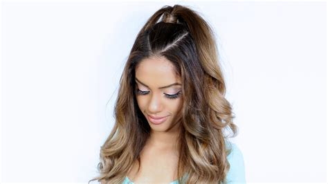 Half Ponytail Hairstyles by The Ultra Chic Half Up Ponytail Tutorial