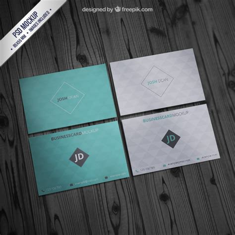 pattern psd mockup business card mockup with geometric pattern psd file