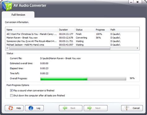 audio format quality best av audio converter features convert audio files among