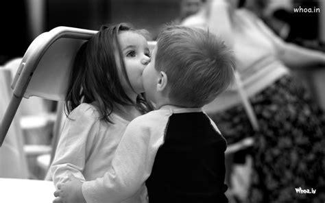 wallpaper girl kissing boy little boy kiss to child girl black and white hd baby kiss