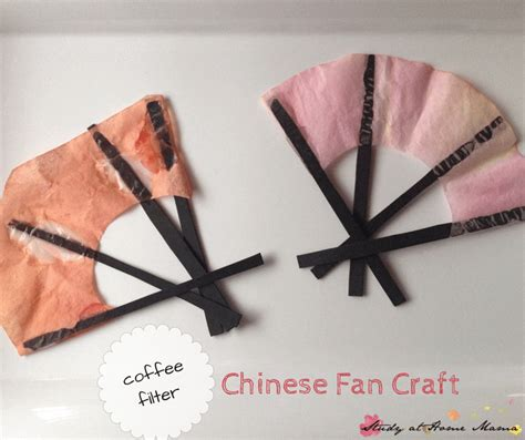 cultural crafts for fan coffee filter craft sugar spice and glitter
