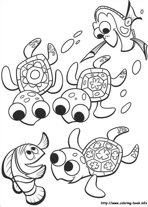 Finding Nemo Coloring Picture Finding Nemo Coloring Page