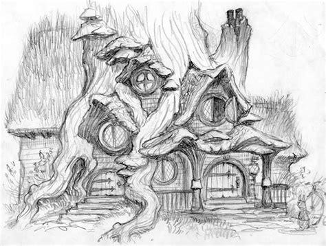 sketchbook gallery illustrations house design abandoned imagine colors