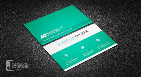 create cool business cards template free clean minimal creative business card template
