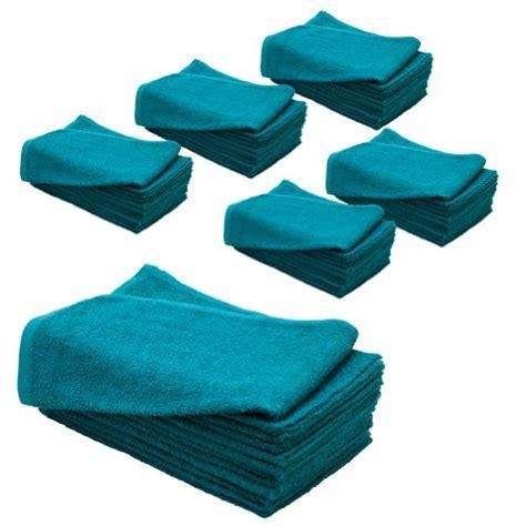 Proof Towel product 6 dozen 15 x 25 teal cotton salon spa proof chemical safe resistant towel