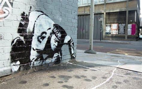 hidden banksy art   displayed  london developer