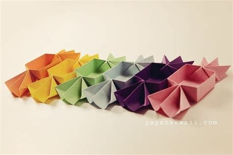 Make Origami Shaped Box - origami shaped box tutorial 183 how to fold an origami