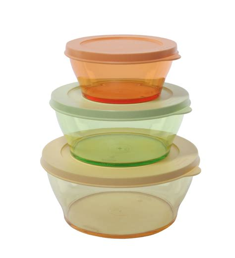 Tupperware Bowl tupperware clear bowl coloured set of 3 by tupperware