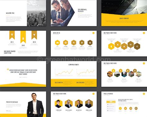 download ghw creative presentation template free green
