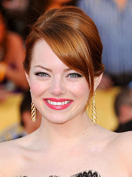 emma stone forehead top tricks to make hair look thicker