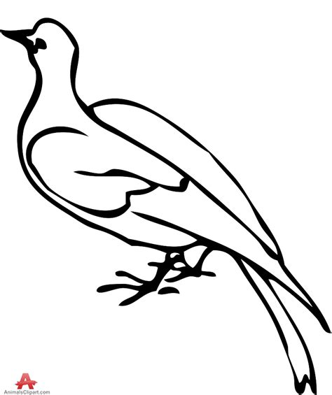 Small Dove Outline by Pin Dove Outline On