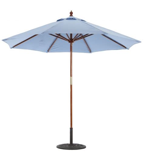 Wooden Patio Umbrella Classic 9 Foot Umbrella Galtech Wood Market Umbrella With Pulley Frame Patio Umbrella Store