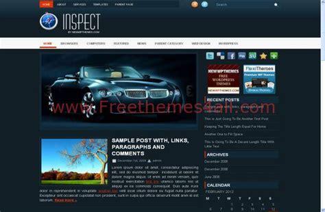 themes wordpress blue cars blue magazine free wordpress theme download